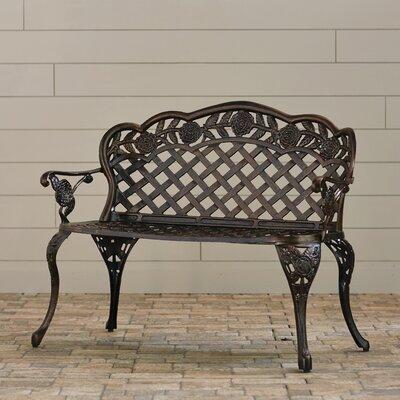 Astoria Grand Aluminum Garden Bench Cast Benches