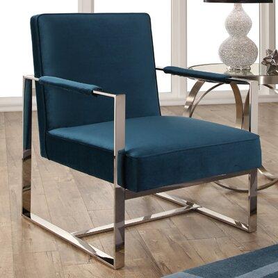 Willa Arlo Interiors Steel Armchair Stainless Chairs