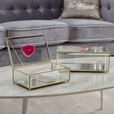 Mercer41 Glass Agate Boxes Set Maison Furniture