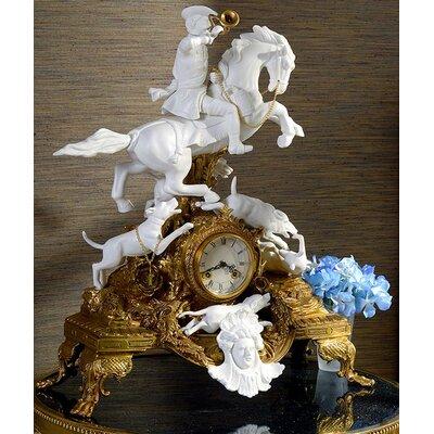 Porcelain Craft Mantel Clock