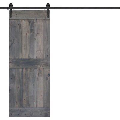 Barndoorz Paneled Wood Barn Door Hardware Kit
