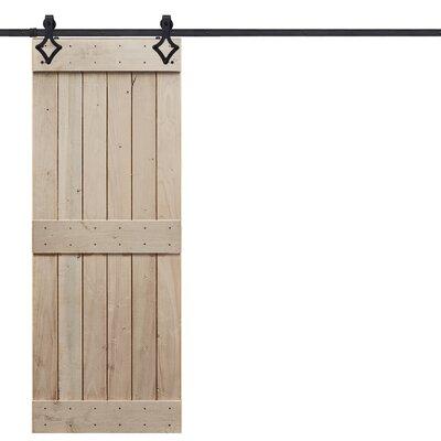 Barndoorz Paneled Wood Rustic Rail Plank Barn Door Hardware Kit