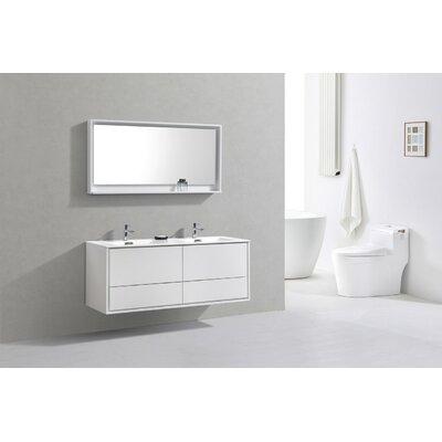 Orren Ellis Mounted Double Bathroom Vanity Set Wall Vanities