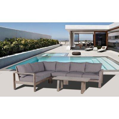 Gracie Oaks Potsdam Deep Seating Group Sunbrella Cushion Conversation Sets