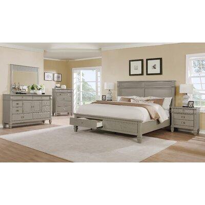 Beachcrest Home Gray Solid Wood  Platform Bedroom Set Queen