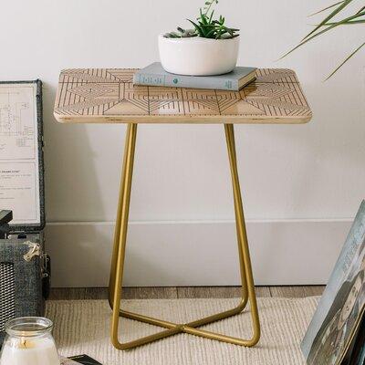 East Urban Home Holli Zollinger Line Mandala End Table Product Photo