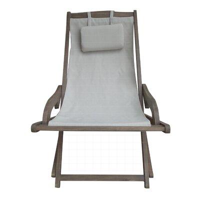 Mistana Wood Canvas Sling Arm Chair Lounge Chairs