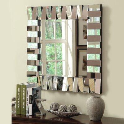 Latitude Run Wall Mirror Silver Mirrors