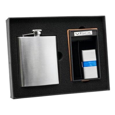 Flask and Torch Flame Lighter Set VSET56-1132-101101