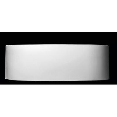Oval Freestanding Soaking Bathtub Matte White