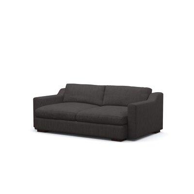 Benchmade Modern Sal Condo Sofa Leg Espresso Body Graham Charcoal