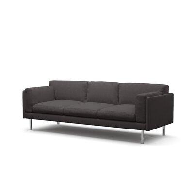 Benchmade Modern Fat Sofa Leg Walnut Body Graham Charcoal