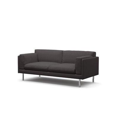 Benchmade Modern Fat Condo Sofa Leg Walnut Body Graham Charcoal h