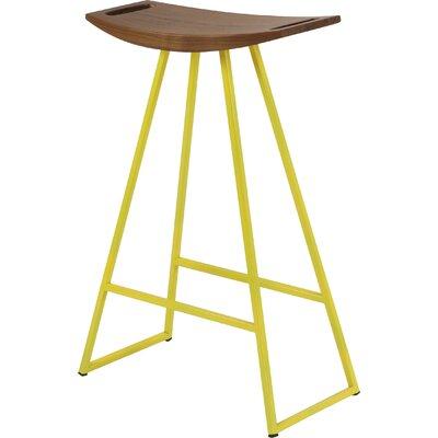 Tronk Design Bar Stool Yellow Walnut