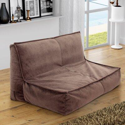 Fox Hill Trading Loveseat Soft Seating Stool Upholstery Mocha