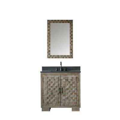 Bay Isle Home Benicia Elm Single Bathroom Vanity Mirror