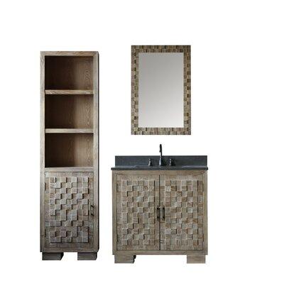 Bay Isle Home Cheval Elm Single Bathroom Vanity Set Mirror