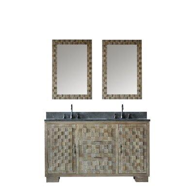 Bay Isle Home Sharpes Elm Double Bathroom Vanity Set Mirror