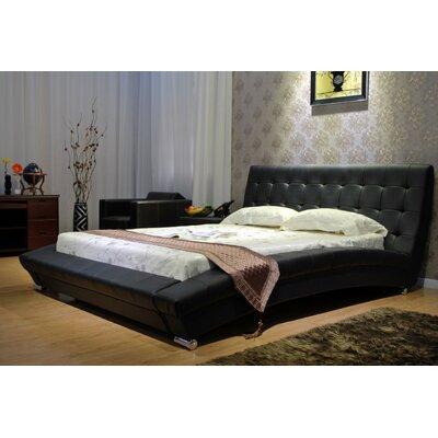 Greatime Platform Bed Queen Dark Brown