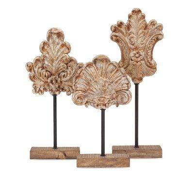 Fleur De Lis Living Floral Stands Sculpture Set Amazing Furniture