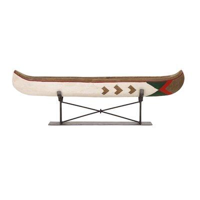 Loon Peak Canoe Metal Stand Sculpture Large Furniture