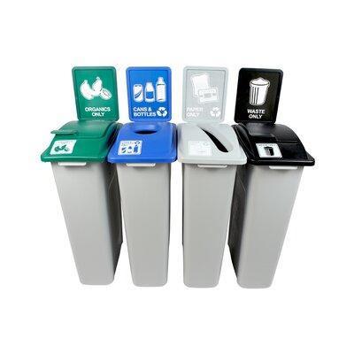 Busch Systems Waste Watcher Organics Paper Cans Bottles Slot Circle
