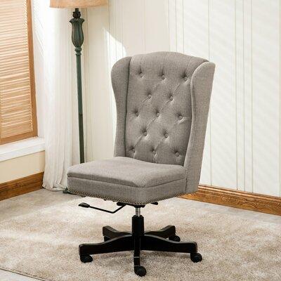 Laurel Foundry Modern Farmhouse Desk Chair Linen Office Chairs