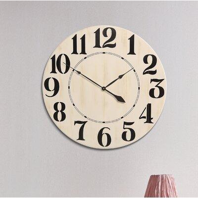 Laurel Foundry Modern Farmhouse Wall Clock Handmade Wall Clocks