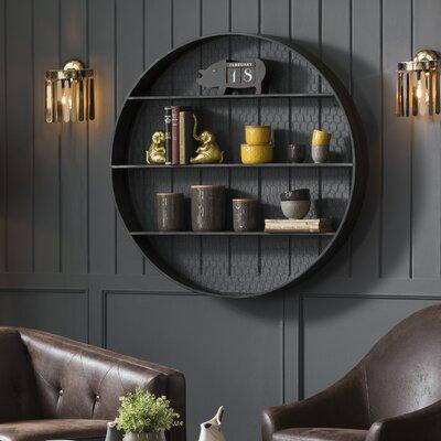 Laurel Foundry Modern Farmhouse Metal Wall Shelf Round Shelves