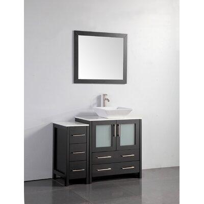 Wade Logan Single Bathroom Vanity Set Mirror Framed Vanities