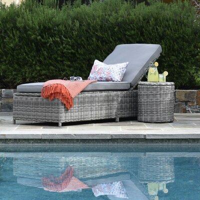 Elle Decor Chaise Lounge Cushion Storage Loungers
