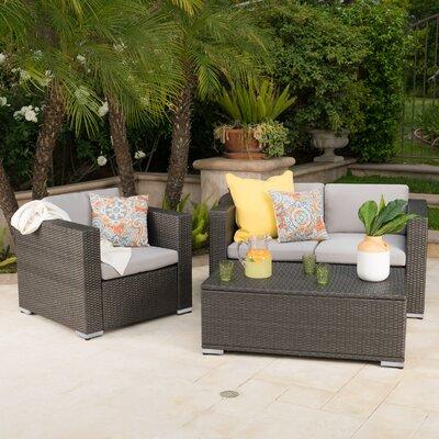 Andover Mills Sofa Set Cushions Frame Gray