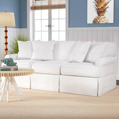 Beachcrest Home Gables Slipcovered Sofa Upholstery Cotton Upholstery Warm White