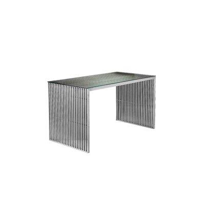 Everly Quinn Desk Color Frame Silver