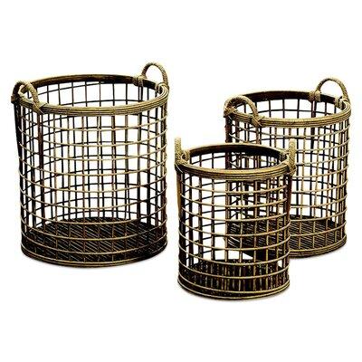 Highland Dunes Laundry Wicker Basket Set Lodge Storage