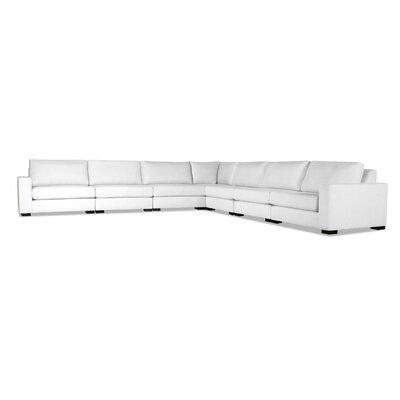 Brayden Studio Plush Deep Modular Sectional Upholstery White