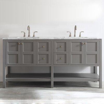 Beachcrest Home Double Bathroom Vanity Set Base Grey