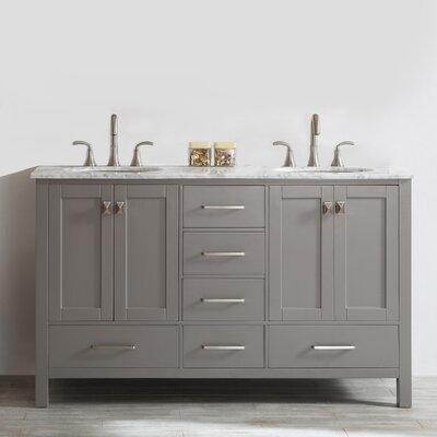 Beachcrest Home Double Bathroom Vanity Set Base Fossil Gray