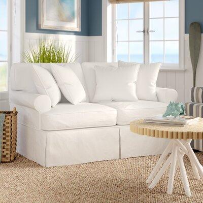 Beachcrest Home Gables Slipcovered Loveseat
