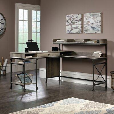 Three Posts Shape Computer Desk Hutch L Desks