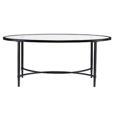 Charlton Home Glass Coffee Table Metal Cocktail Table