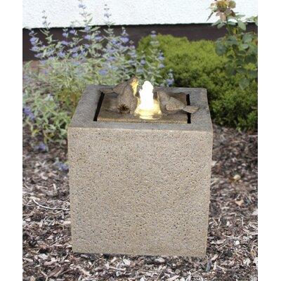 Zenvida Garden Fountain Sandstone Cube Led Light Fountains