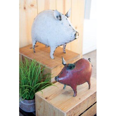 Gracie Oaks Figurine Pig Furniture
