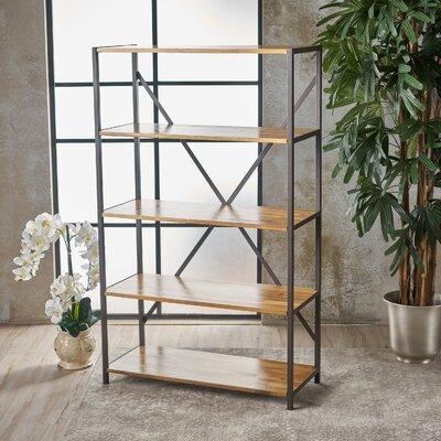 Gracie Oaks Standard Bookcase Wood Bookcases