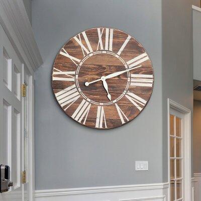 Gracie Oaks Nahush Wall Clock Sized Wall Clocks