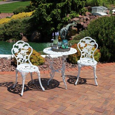 Ophelia Designed Cast Bistro Set Flower Dining Sets