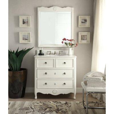 Ophelia Wood Bathroom Vanity Set Mirror Single Vanities