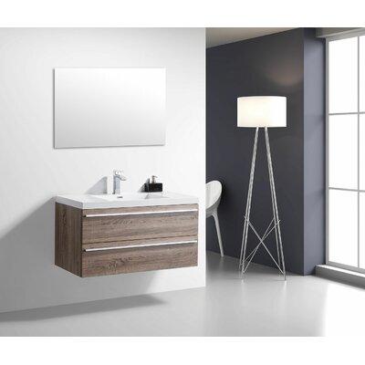 Foundry Select Mounted Single Bathroom Vanity Set Wall Vanities