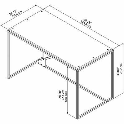 Greyleigh Writing Desk Industrial Desks