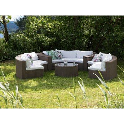 Orren Ellis Sofa Set Cushions Curved Conversation Sets